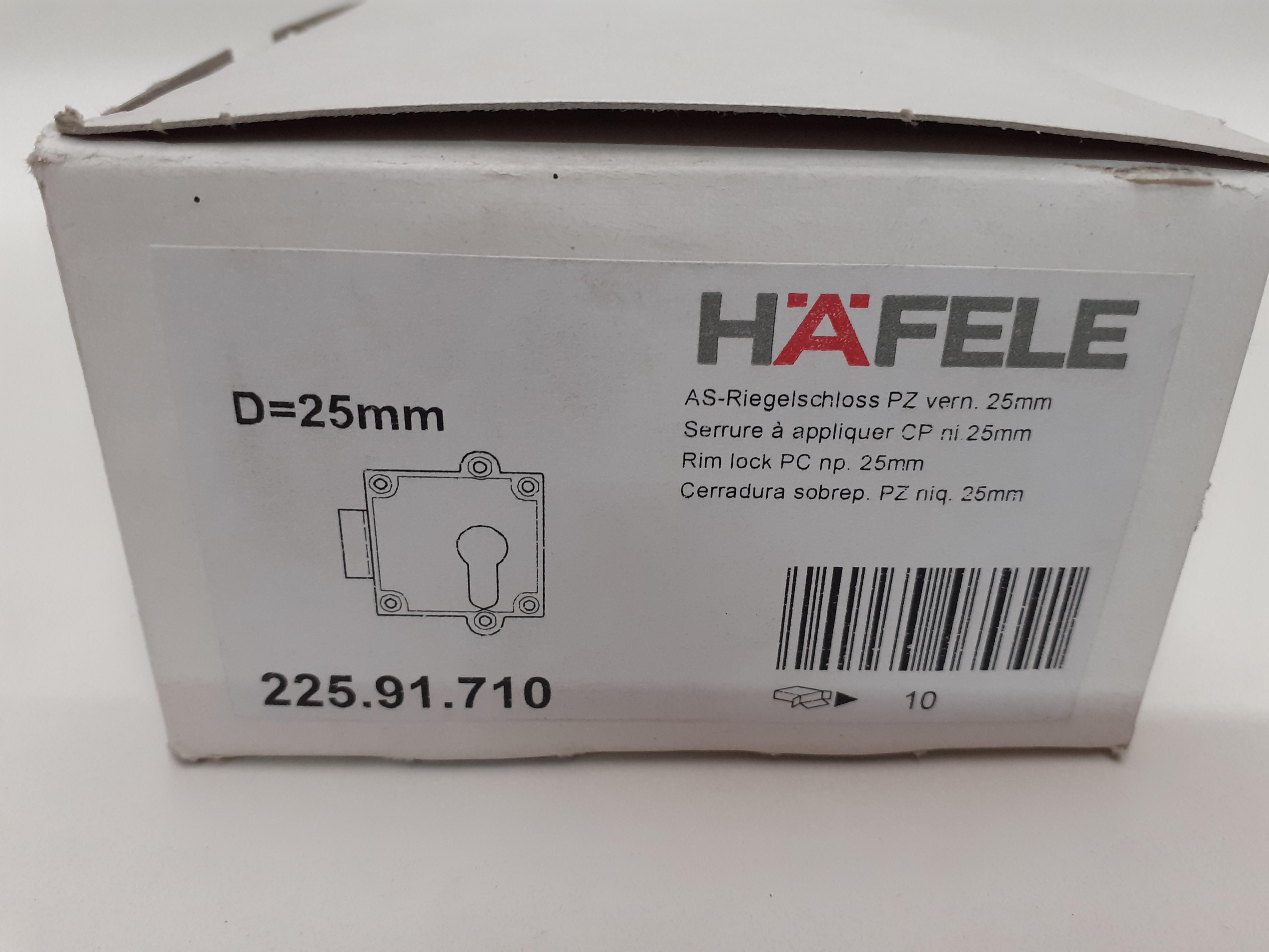 AS-Riegelschloss PZ vern. D=25mm