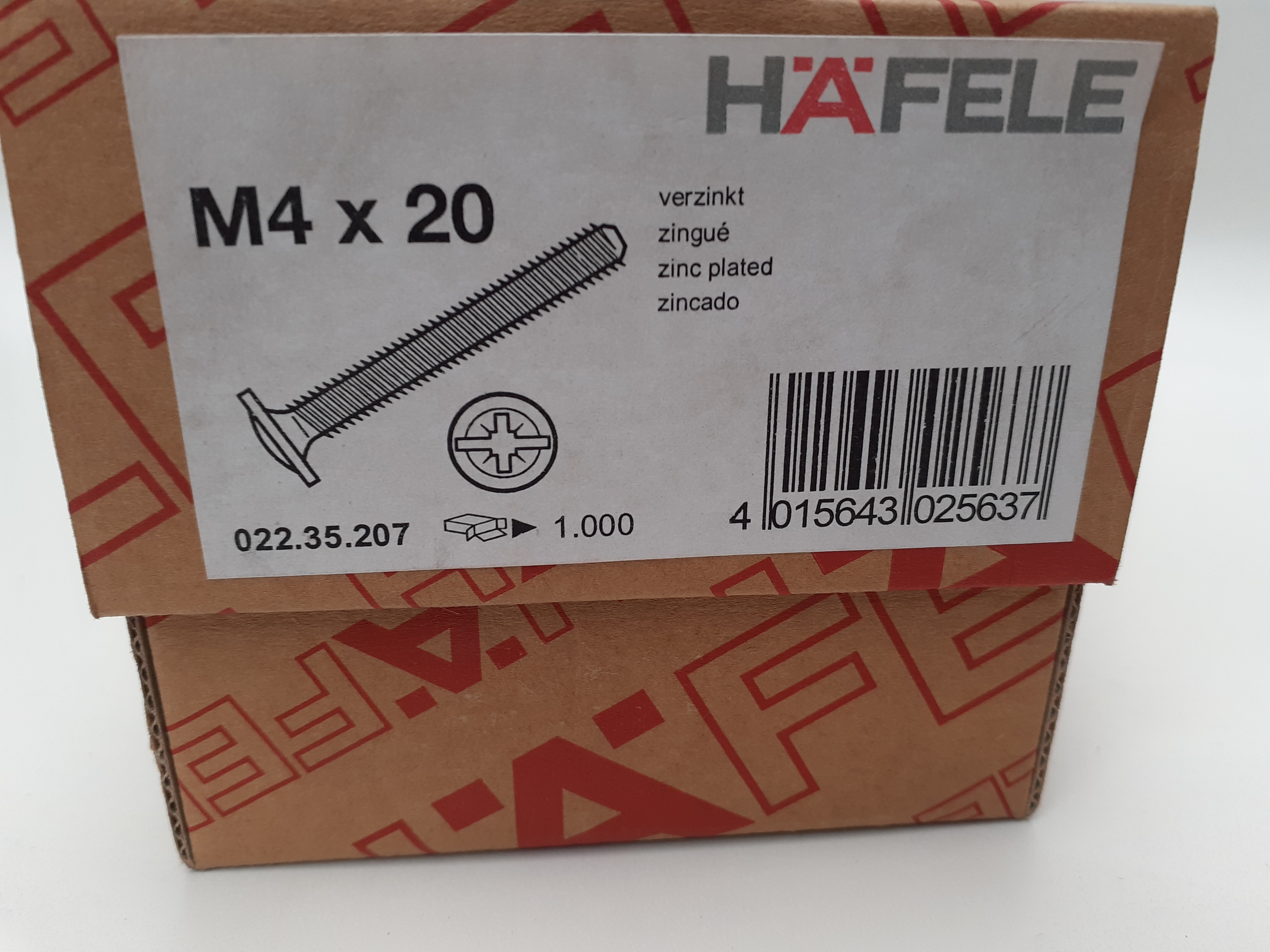 Gewindeschraube mit Tellerkopf M4