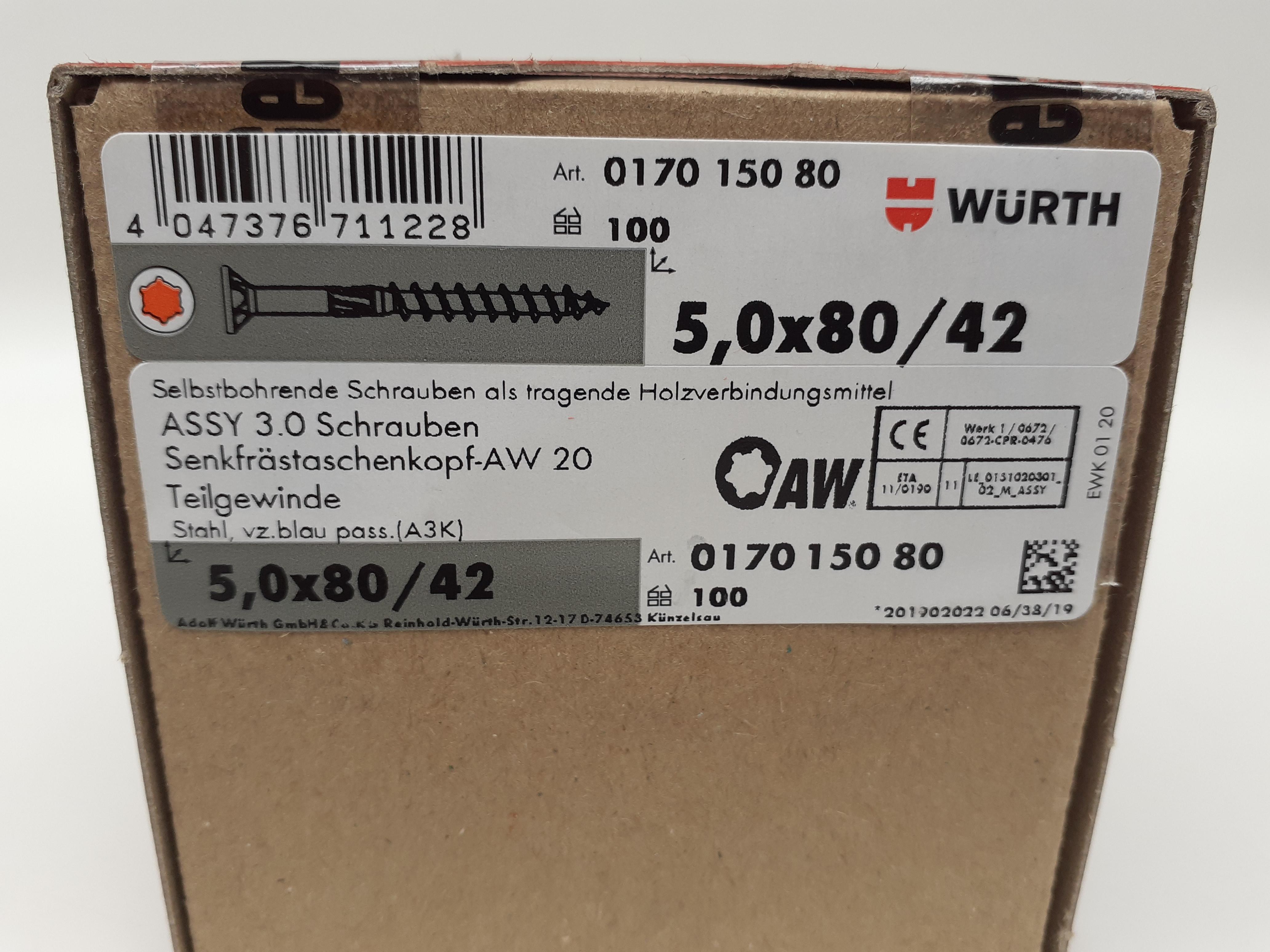 ASSY 3.0 Schraube Senkkopf Selbstbohrend 5mm