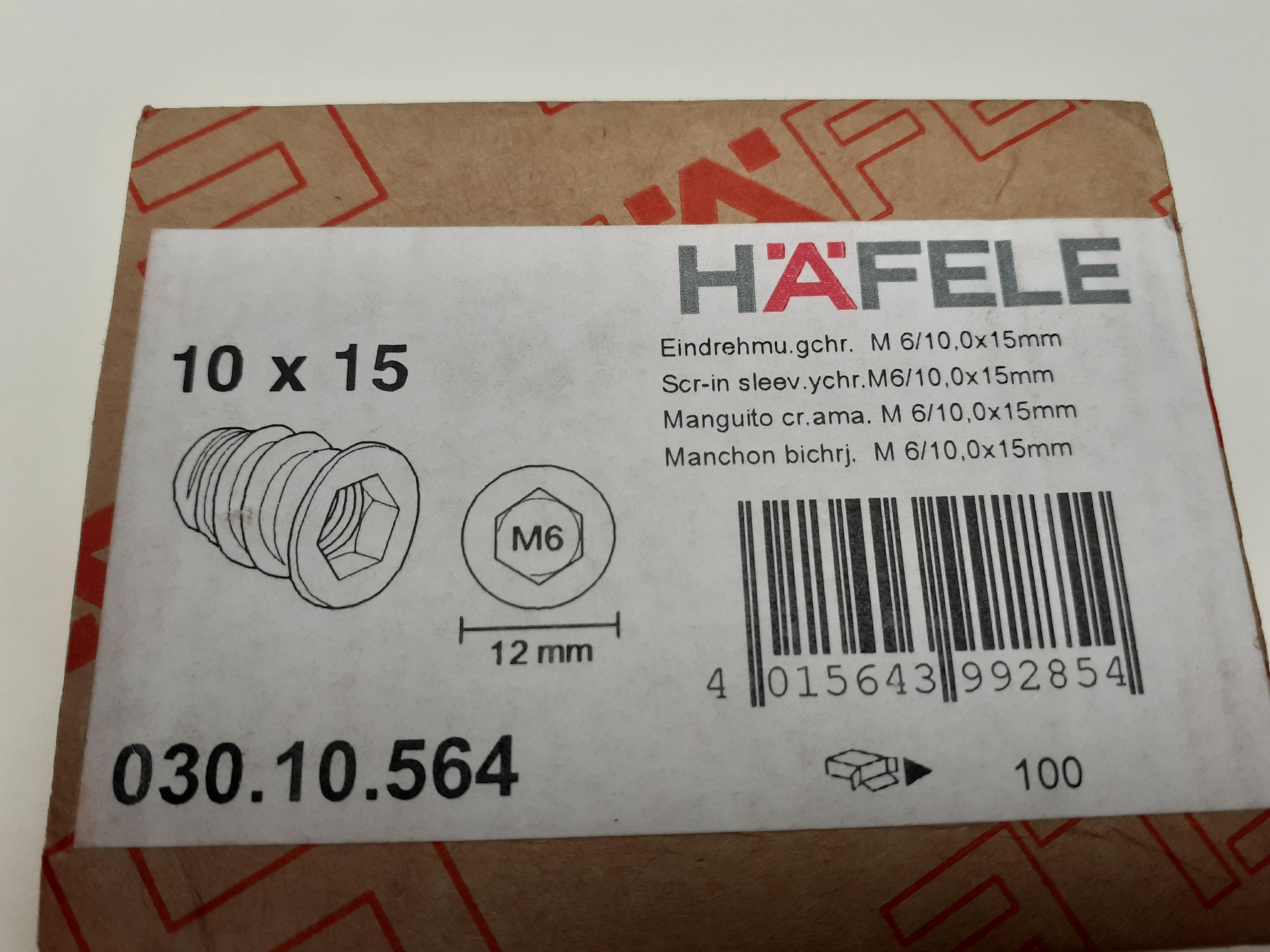Eindrehmuffe M6/10x15mm